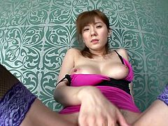 Hey, guys! This sexy Asian kitty needs your attention. She is already so wet... Pull your rock hard dick out of your pants and stick it deep into her hairy pussy. Relax and have fun!