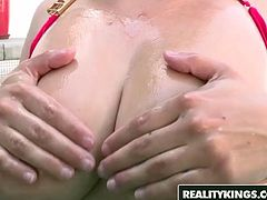 Busty pool slut Katrina Jade wants some cock - Reality Kings