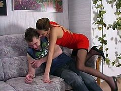 Russian Aunt caught nephew peeping on her - Helena