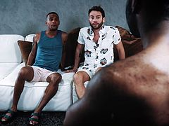 It was his lucky day, as Max Adonis met Noah Donovan and Jacen Zhu, and they offered him their big black dicks in exchange of his white tight ass. Really tempting proposal! Join and enjoy interracial gay threesome with glamorous black men!