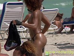 Sexy South Beach Babes Voyeur Nudists Uncensored