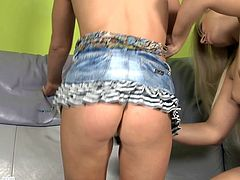 Beautiful blondes Rikki and Lucy H go down on each other on Sapphic Eotica