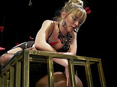 caged black sex slave gets punished by mona wales