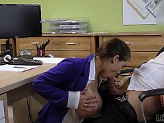 It looks like this girl has much more to offer than just a good credit history. Just take a look at those extremely huge tits. Looks simply stunning! You have arrived on the site that is considered the best scenes starring fake horny loan agent.