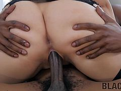 This milf's tight pussy prefers only big and only black dicks, so the black guy was lucky enough to fuck with her. Join and enjoy this hot interracial sex session with really kinky standing cowgirl position.