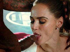 Tori Black Fucked Rough & Facialized by Two BBC!