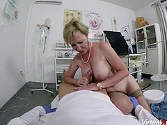 busty hairy granny rough fucked by her doctor