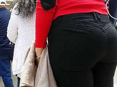 Rich Teen in tight black jeans - 1