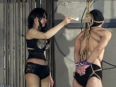Japanese Femdom Aiaoi Hanging and Hot Candle Wax