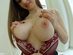 Stella Cox from Italy with big tits getting fucked hard by