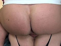Fat Ass British Slag Gets Huge Pussy Fucked