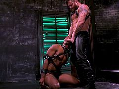 black sex slave was punished and face fucked