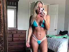 #5 Milf Courtney in thong bikini