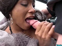 This chocolate beauty is a real exotic in cold European countries and it is not surprising, that as soon as I saw her on the side of the road, I immediately offered her to suck my cock and to fuck for money... Want to know what she said? Join!