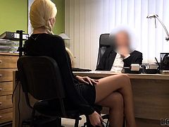 LOAN4K. Sex casting is performed in loan office by naughty..