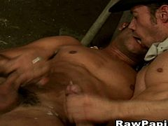 Extreme gay licking the body and fingering his ass while licking again. Hardcore analsex with nasty cumshot. Hardcore anal fucking. Hardcore male to male anal sex with body cumshot in the end.