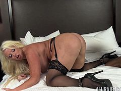 Enjoy this naughty blonde hardcore slut ALURA JENSON having fun with RICHARD MAN and his huge phat black member in HD video today