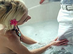 Skinny Blonde Pounded Hard And Creampied