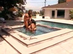 Watch this ebony BBW gets rimmed after swimming in jacuzzi. Full & more videos on nastycamgirls.net pa href=