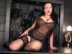 Enjoy this brunette slut in strange outfit doing nothing in this video .Anyhow enjoy in High Definition this slut in this video