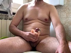 Masturbation with fleshlight and Prince Albert Piercing