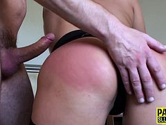 Sloppy blonde housewife enjoys a hard fuck