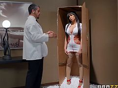 This perverted psychotherapist is tired of ordinary women, their constant complaints and requests, so he ordered a sex doll for himself. Opening the box with the package, he was amazed by her huge round tits and was looking forward to the moment when he could taste her juicy pussy... Relax and enjoy impetuous sex action!