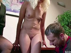 German Mom Teach Young Couple How to Fuck and Join