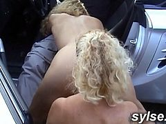 2 hitchikking milfs on young driver - amateur compilation