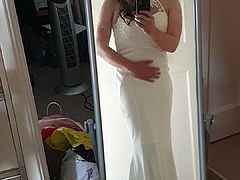 sissy in wedding dress