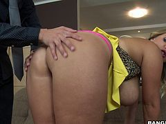 Cristal Swift is from the Czech Republic, a breeding ground for hot chicks, and she is no exception. This hot milf packs a beautiful natural F cup, so she's in the right place. In today's update, you'll see Cristal getting fucked hard, and she gives it as hard as she takes it. Her tits are perfect for titty fucking and she does it great. She also has great talent in sucking dick and getting face fucked. But, the best is watching her huge boobs fly around while she gets her pussy slammed, and listening to her love it. You don't want to miss this one.