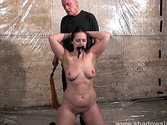 Dark amateur slave girl Nikohls bizarre humiliation and candle wax bdsm of spanked submissive in rough domination session