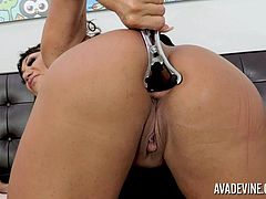 Ava Devine is a true anal gaping whore! She loves it up her ass and today she shoves a huge dildo deep into her asshole and makes her ass gape!