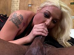 This sexy blonde only fucks one kind of cock. That kind is big and black. She positions herself with her ass up so the BBC can see and give her what she wants. And how she shows how she likes that cock.