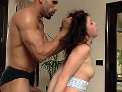 Karlo masterfully alternates moments of rest and cruel punishments. The main tool of punishment is the whip and his big hard dick. He rudely fucks Mia's tight pussy, then whips her ass... Have fun and enjoy the spicy bits of scandal!
