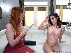 Busty Redhead MILF Lauren Gets D P Treatment From Two black Dick