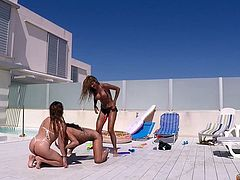 Venus Afrodita Jade and Melany Kiss. A swimming pool a few dildos a bunch of squirt guns and quite a lot of milk are the ingredients this trio needs to have a great time